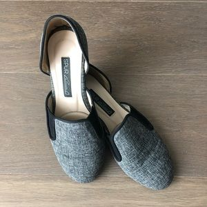 Shoes - Gray slip on d'orsay flats chic korea size 5.5